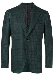 Kiton check suit jacket