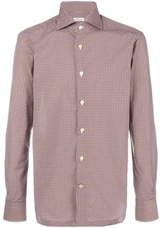 Kiton checked button-down shirt