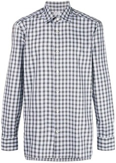 Kiton checked button shirt