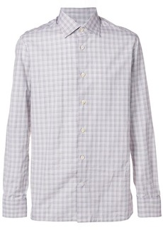 Kiton checked fitted shirt