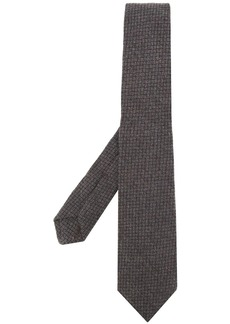Kiton checked pattern tie