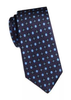Kiton Circle & Cross Silk Tie