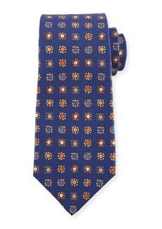 Kiton Circle in Box Medallion Silk Tie