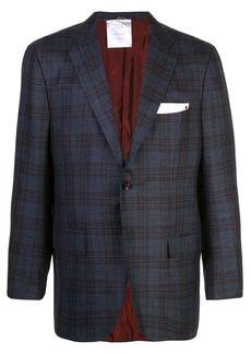 Kiton classic plaid blazer