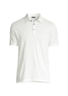 Kiton Cotton-Blend Polo T-Shirt