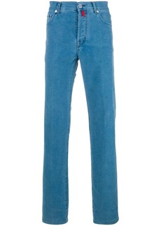 Kiton denim-style stretch trousers