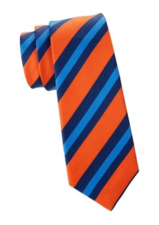 Kiton Diagonal Stripe Silk Tie
