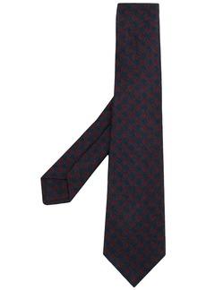 Kiton diamond-pattern knit tie