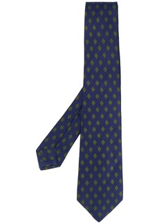 Kiton diamond pattern tie