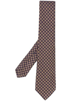 Kiton diamond patterned tie