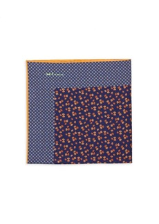 Kiton Ditsy Floral Silk Pocket Square