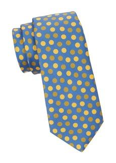 Kiton Dot Print Silk Tie