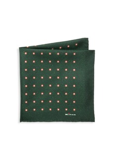 Kiton Dotted Silk Pocket Square