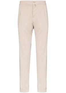 Kiton elastic waist chino trousers