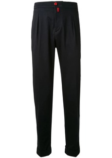 Kiton elasticated waistband tapered trousers