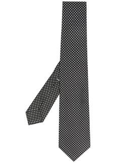Kiton embroidered silk tie