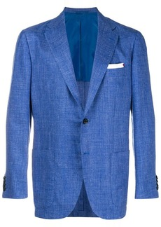 Kiton fitted blazer jacket