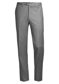 Kiton Flat-Front Wool Trousers
