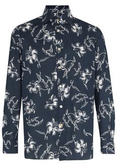 Kiton floral-print long-sleeve shirt