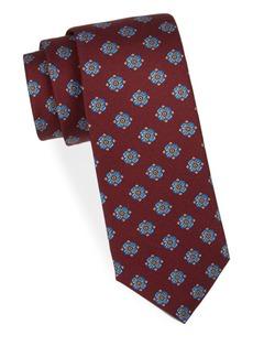 Kiton Floral Medallion Silk Tie