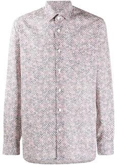 Kiton floral-print cotton shirt