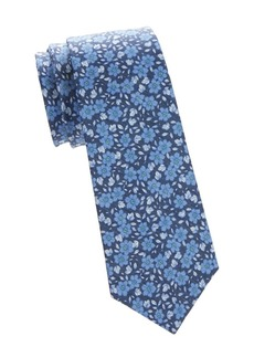 Kiton Floral Silk-Linen Tie