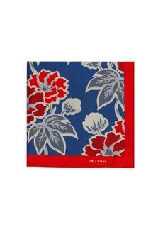Kiton Floral Silk Pocket Square
