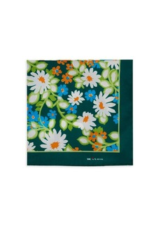 Kiton Floral Silk Pocket Square