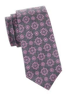 Kiton Floral Silk Tie