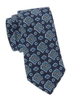 Kiton Floral Wool & Silk-Blend Tie