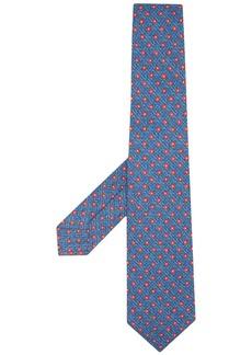 Kiton geometric-pattern silk tie