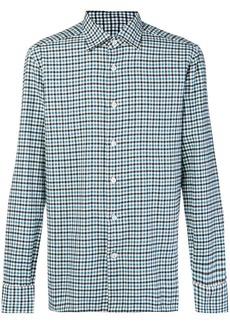 Kiton gingham checked shirt