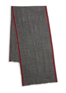 Kiton Glen Plaid Wool Scarf