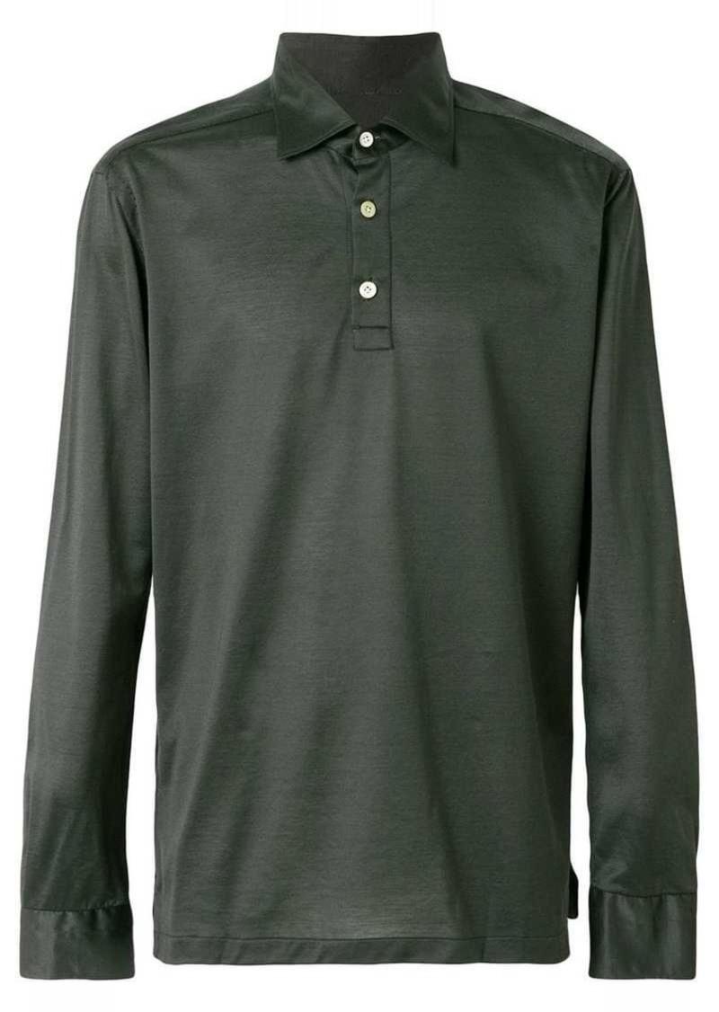 Kiton half button shirt