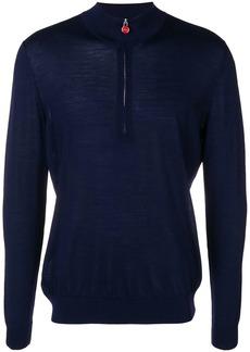 Kiton half-zip knitted sweater