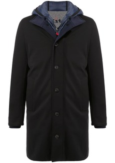 Kiton hooded layered coat