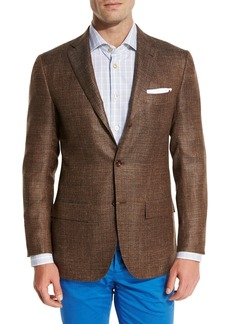 Kiton Cashmere-Blend Three-Button Sport Coat