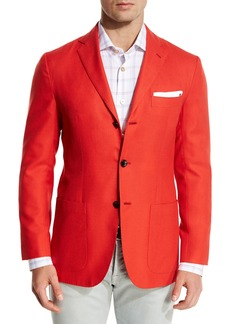 Kiton Cashmere Three-Button Blazer