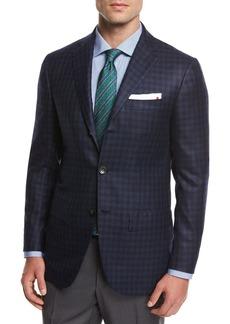 Kiton Check Cashmere Sport Coat