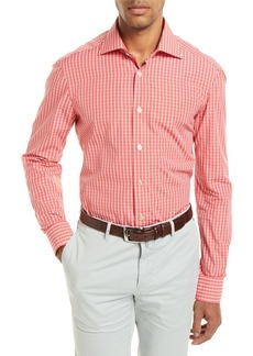 Kiton Check Long-Sleeve Shirt
