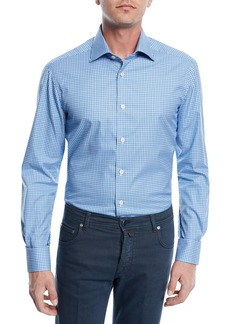 Kiton Checked Cotton Sport Shirt