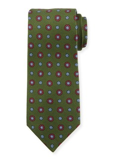 Kiton Circle Medallion Silk Tie