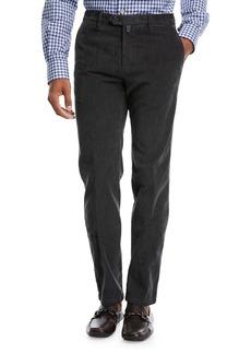 Kiton Corduroy Straight-Leg Pants