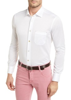 Kiton Cotton Knit Long-Sleeve Shirt