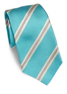 Kiton Diagonal Stripe Silk Tie