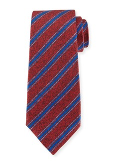 Kiton Diagonal-Stripe Silk Tie