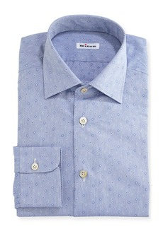 Kiton Diamond-Dobby Dress Shirt