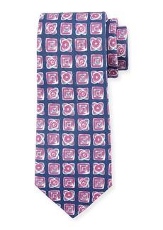Kiton Diamond-Print Silk-Blend Tie