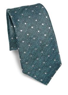 Kiton Dotted Silk Tie