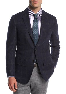 Kiton Double-Windowpane Cashmere Sport Coat